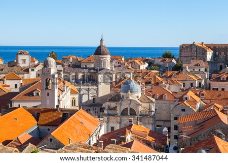 Panoramic view of Old town Dubrovnik