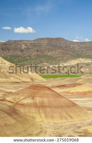 Panoramic view of Painted Hills, Oregon