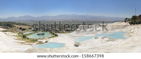 Panoramic view of  Pammukale - stock photo