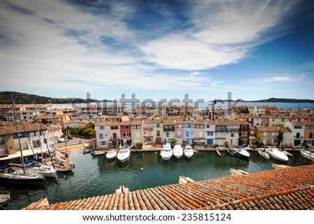 Panoramic view of Port Grimaud in France