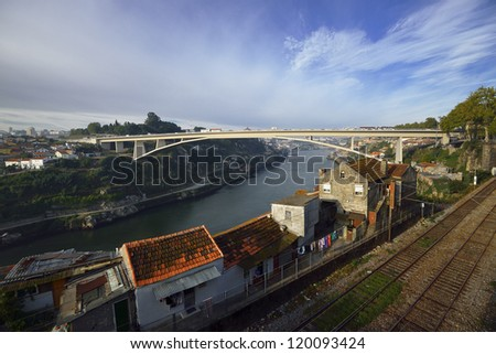 Panoramic view of Porto. Portugal - stock photo