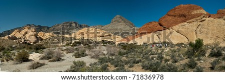 Panoramic View of Red Rock Canyon, Nevada - stock photo