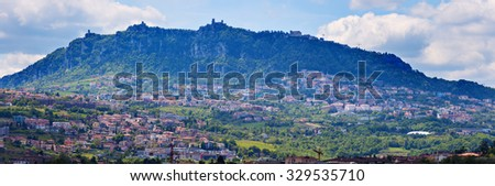 Panoramic view of San Marino - seen day time.