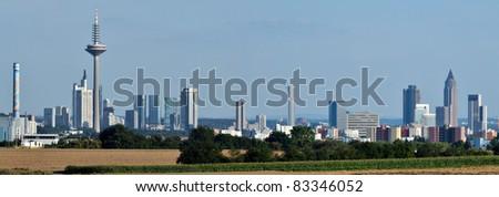 Panoramic view of Skyline Frankfurt/Main, Germany - stock photo