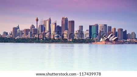Panoramic view of Sydney - stock photo
