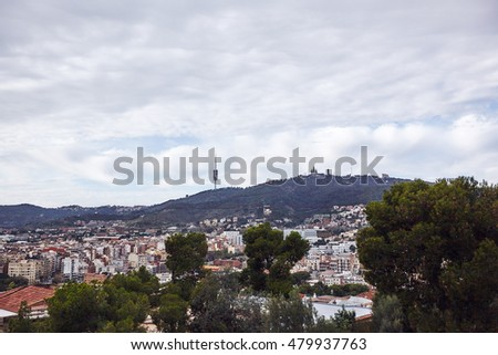 panoramic view of the city of Barcelona