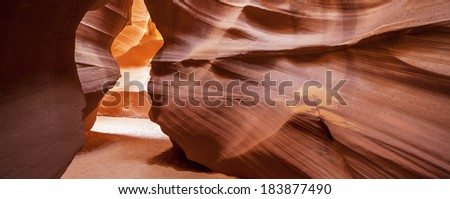 Panoramic view of the famous Antelope Canyon, Page, Arizona, USA  - stock photo