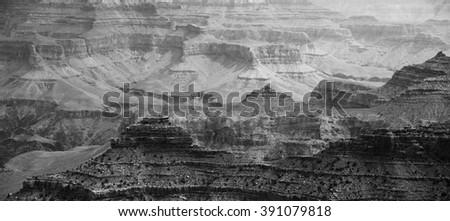 Panoramic view of the Grand Canyon national park at sunrise, Arizona, USA - stock photo