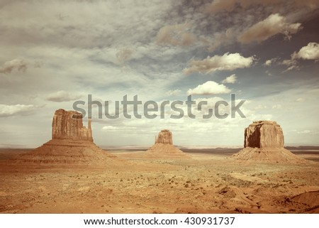 panoramic view of the monument valley, arizona