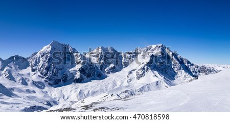 Panoramic view of the mountain peak, Italy