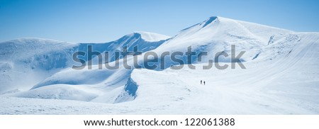 Panoramic view of the mountains - stock photo