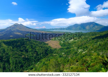 Panoramic view of the sacred mountain - stock photo