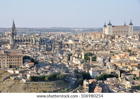 Panoramic view of Toledo (Spain)