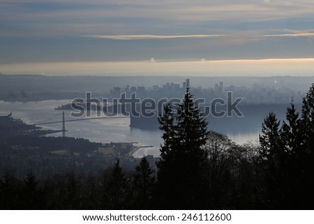 Panoramic view of Vancouver, British Columbia, Canada - stock photo
