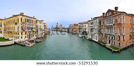 Panoramic view of Venice - stock photo