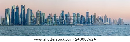 Panoramic view of westbay, Doha