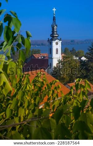 panoramic view of Zemun, Belgrade - stock photo