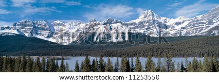 Panoramic view on Rocky Mountains,British Columbia,Canada - stock photo