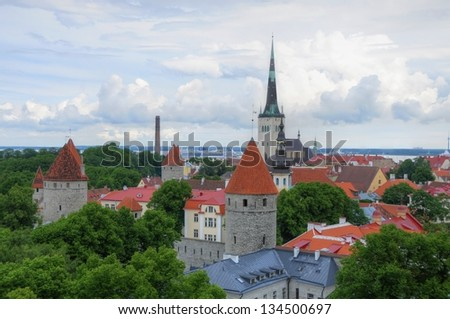 Panoramic view on Tallinn, Estonia