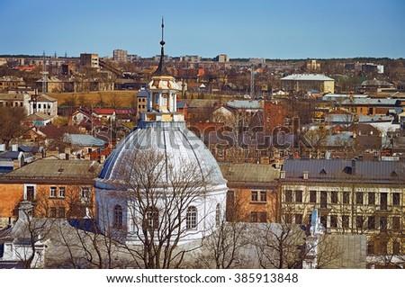 Panoramic View on the City of Daugavpils. Latvia - stock photo