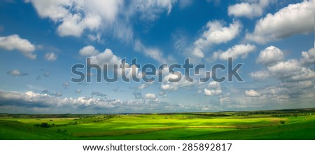 panoramic views of meadows and fields