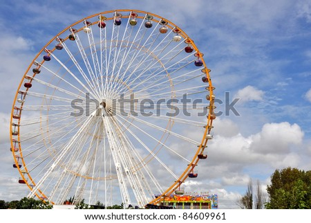 Panoramic wheel of a carnival