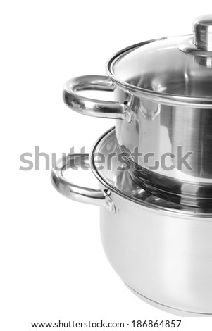 Pans isolated on white