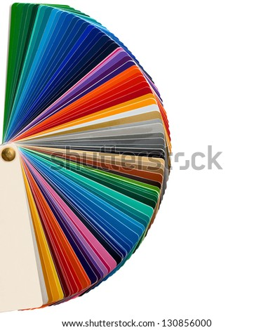 pantone color samples isolated - stock photo