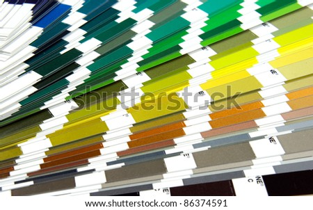 Pantone sample colors catalogue background - stock photo