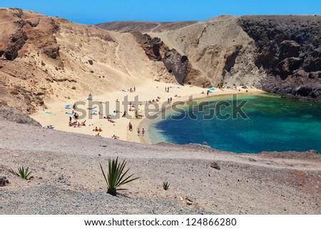 Papagayo beach - stock photo