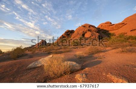 Papago Park, Red rock formation in Phoenix,Scottsdale, Arizona - stock photo