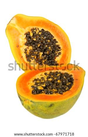 papaya (Carica papaya) - stock photo