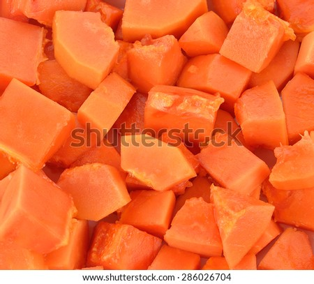 Papaya fruit close up view. - stock photo