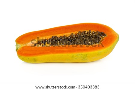 papaya isolate on  white background