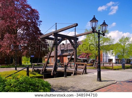 Papenburg in northern Germany - stock photo