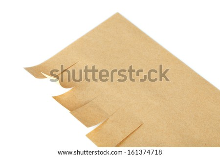 Paper ads isolated on white