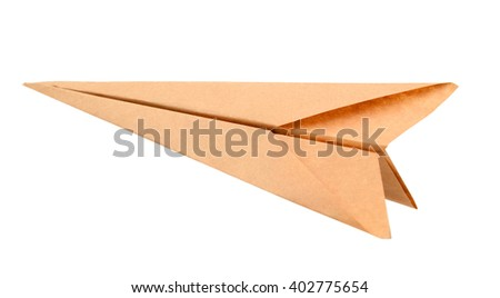 Paper aircraft, Paper Plane on a white background - stock photo