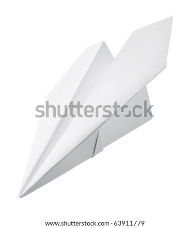 Paper airplane - stock photo