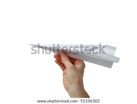 paper airplane in hand