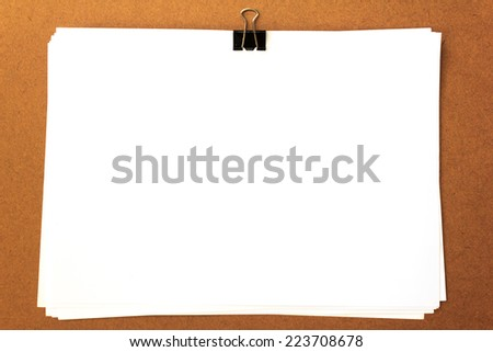 paper and clip - stock photo