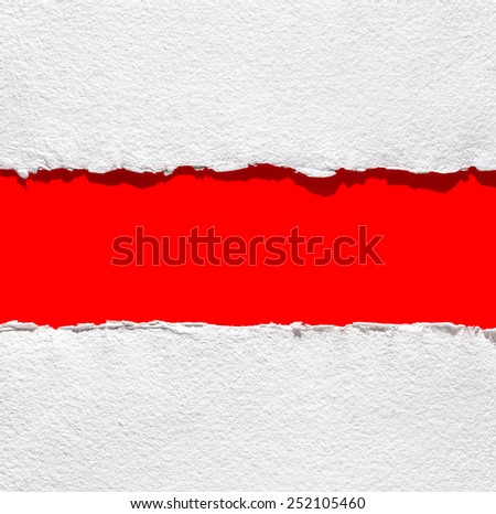 paper background on red, isolated, for Valentine's day messages - stock photo