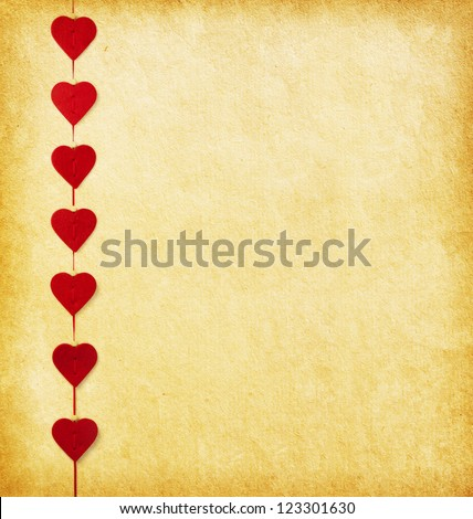 Paper background with hearts