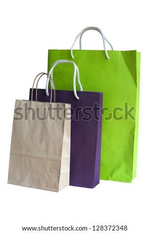paper bag color - stock photo