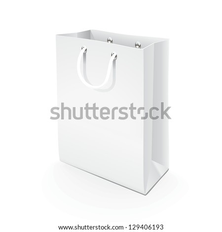 Paper bag. Illustration of a paper bag model for applying branding.