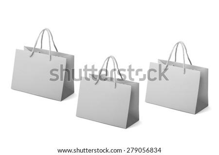 paper bag mock up for design - stock photo