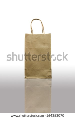 Paper bag on isolated background