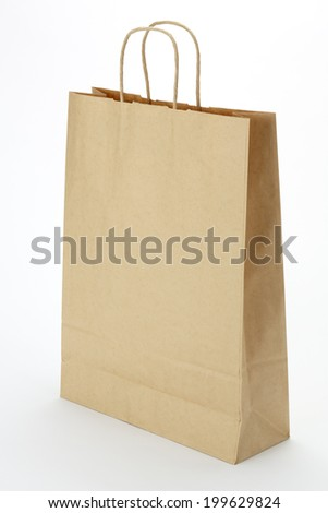 Paper bag on white