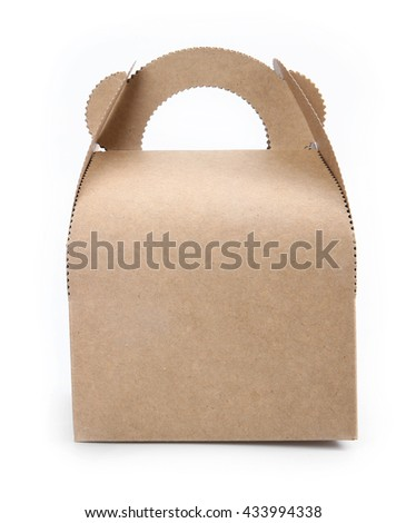 Paper bag set on a white background. - stock photo