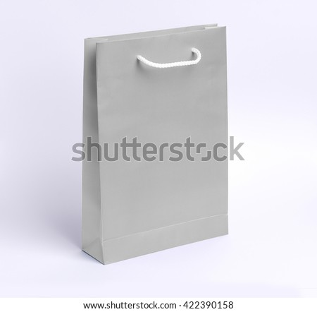 paper bag template mock up