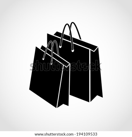 Paper bags Icon Isolated on White Background Raster